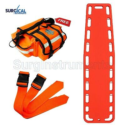 Orange Emt Backboard Spine Board Stretcher Immobilization - Free Emt Trauma Bag