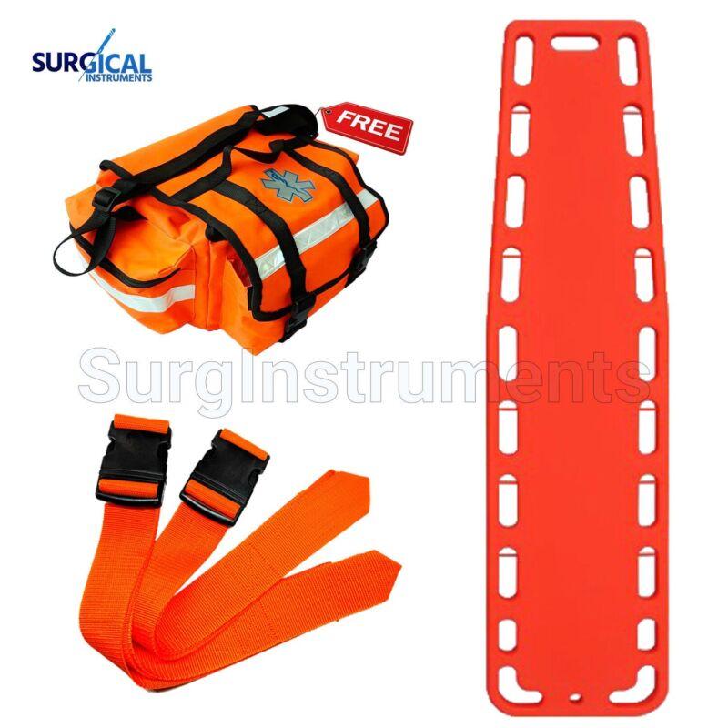 Orange EMT Backboard Spine Board Stretcher Immobilization - Free EMT Trauma Bag