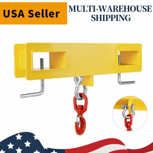 Forklift Hoist Hook Swivel Lifting Attachment Hitch 4500lb Adapter Mobile Crane