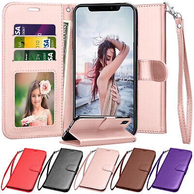 For iphone X,XR,XS Max,6,6S,7,8 Plus Wallet Case Flip Leather Card Holder Cover