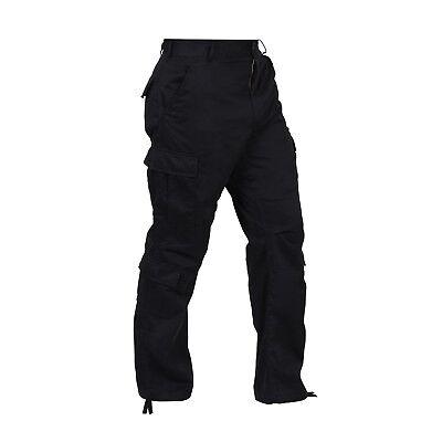 Black VINTAGE PARATROOPER FATIGUES Military BDU Army USMC Work Cargo Pants XS-4X Military Fatigues Bdus Black Pants
