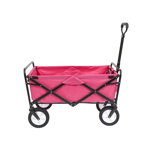 COLLAPSIBLE FOLDING STEEL FRAME OUTDOOR UTILITY WAGON Pink