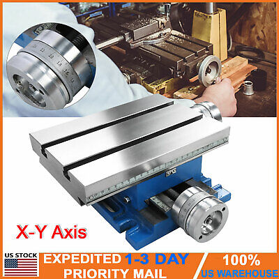 Compound Milling Machine X-y Cross Slide Bench Table Drill Vise Fixture New