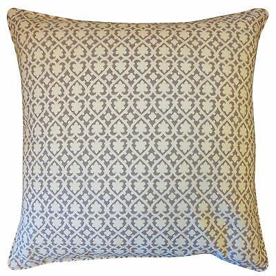 Jiti Spades Cotton Square Throw Pillow, 20-Inch, Gray