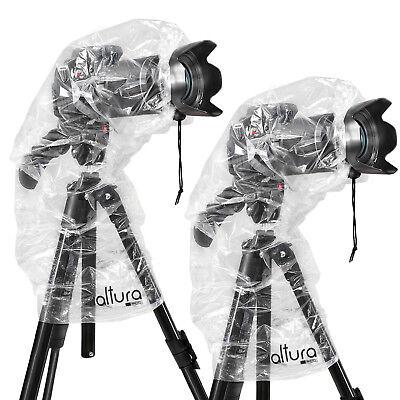 2x Camera Rain Cover for Canon Nikon DSLR Rain Sleeve Protection by Altura Photo