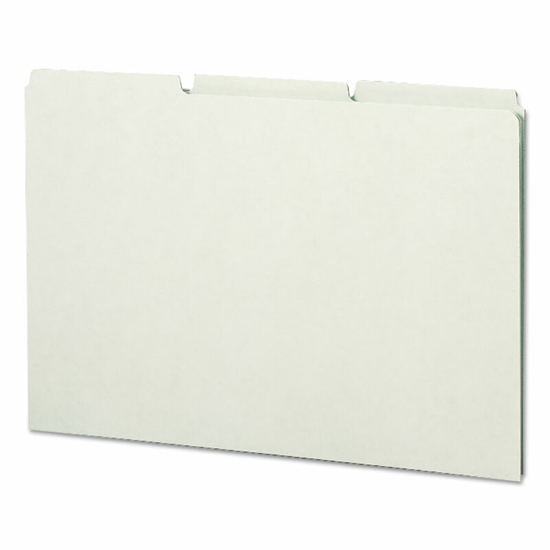 Smead Recycled Tab File Guides Blank 1/3 Tab Pressboard Legal 50/Box 52334