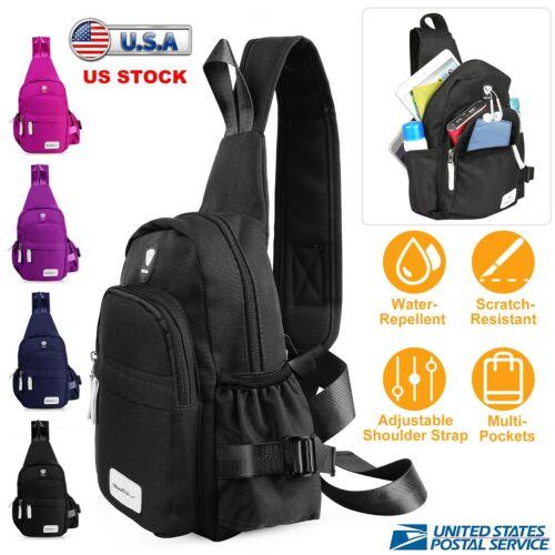 Men Women Travel Backpack Molle Tactical Sling Chest Bag Cro