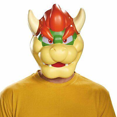 Adult Mario Halloween Costume (Adult King Koopa Bowser Super Mario Villain Halloween Plastic Costume)