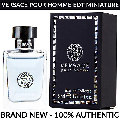 VERSACE Pour Homme Eau de Toilette Men's Cologne 0.17 oz / 5ml Miniature Bottle