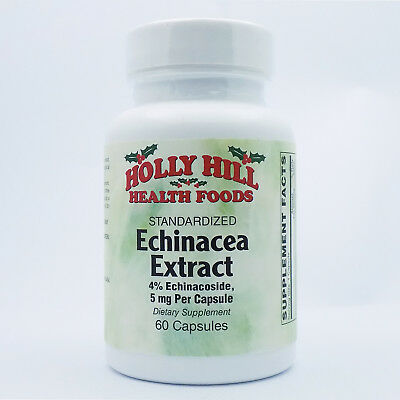 Holly Hill Health Foods, Echinacea Standardized Extract 5 MG, 60 Capsules