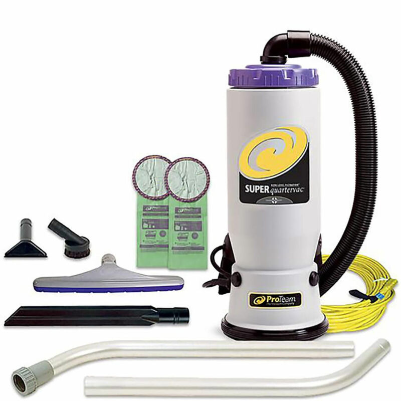 ProTeam QuarterVac 6 Qt Backpack Vacuum with 2 Piece Wand Tool Kit (For Parts)