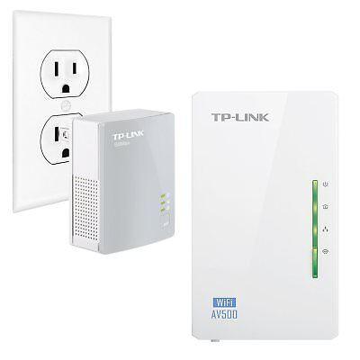 TP-Link AV500 2-Ports Powerline Wi-Fi extender Adapter Kit, 2-Kit (TL-WPA4220 )