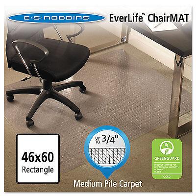 Es Robbins Everlife Chair Mats For Medium Pile Carpet Rectangular 46 X 60 Clear