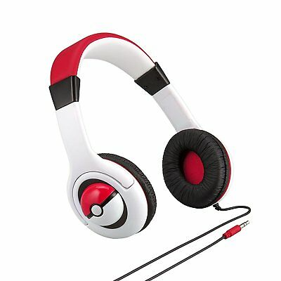 SPECIAL EDITION! eKids Disney Pokémon Headphones W' Volume Limiter White Red New