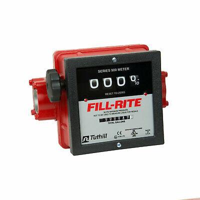Fill-rite 901c1.5 1 12 Inch 4 Wheel Mechanical Fuel Transfer Flow Meter Red