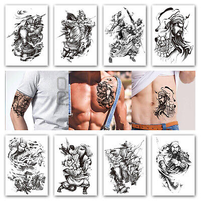 Tattoos Games (8 Sheets Temporary Tattoos for Men Boys Game of the Three Kingdoms Thrones)