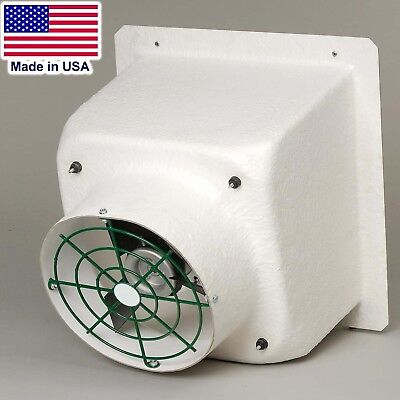 16 Fiberglass Exhaust Fan - 2470 Cfm - 115230v - 1 Ph - Poly Blades Shutter