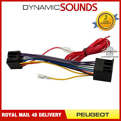 CT20PE08 Wiring Harness Adaptor Loom for Peugeot 206 307 406 607 Boxer Expert