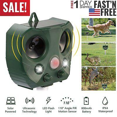 Ultrasonic Animal Repeller Pest Control with Motion Sensor Dog Cat solar Outdoor