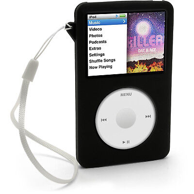 Black Silicone Skin Case for Apple iPod Classic 80gb 120gb 160gb Cover Holder