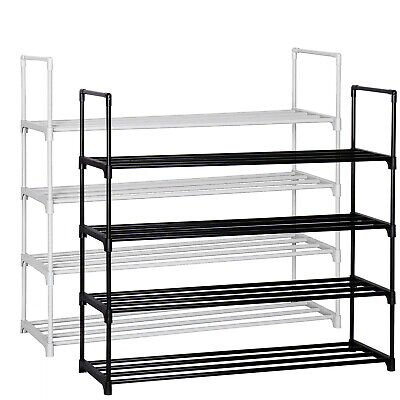 4 Tier Shoe Rack Shoe Tower Shelf Shoe Storage Organizer Cabinet Holds 16 pairs  - 4-tier Tower