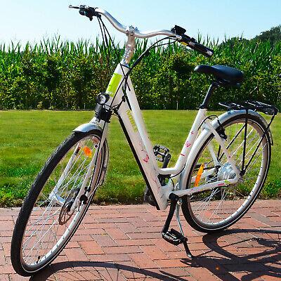 Hecht Noble Damen City Elektrofahrrad E-Bike Elektro Fahrrad 10,2 Ah LI-Ion Akku