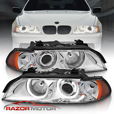 1997-2003 Chrome Dual Halo Projector Headlights For BMW E39 5-Series 528i/540i