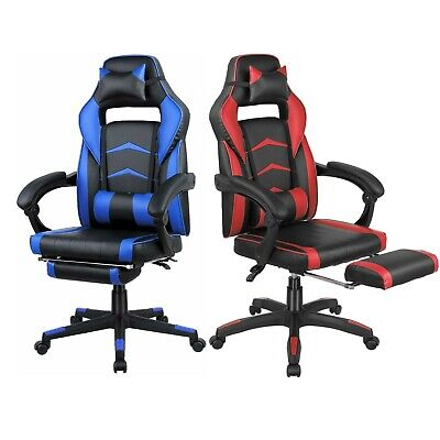Office Chair High Back Computer Racing Gaming Chair Ergonomic Chair Redblue New