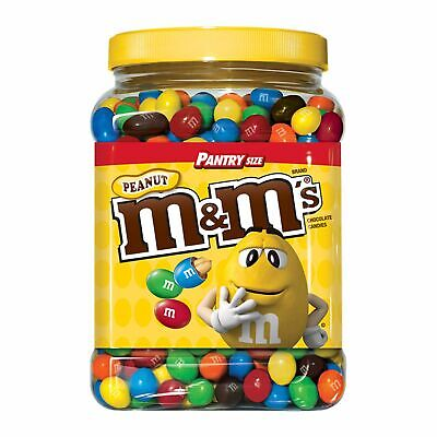 M&M'S Peanut Chocolate Candy Plastic Jar, Pantry Size (62 - Chocolate Jars