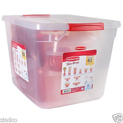 New Rubbermaid Takealongs Food Storage 62 Pc Set Tote Lid Container Free Shippin