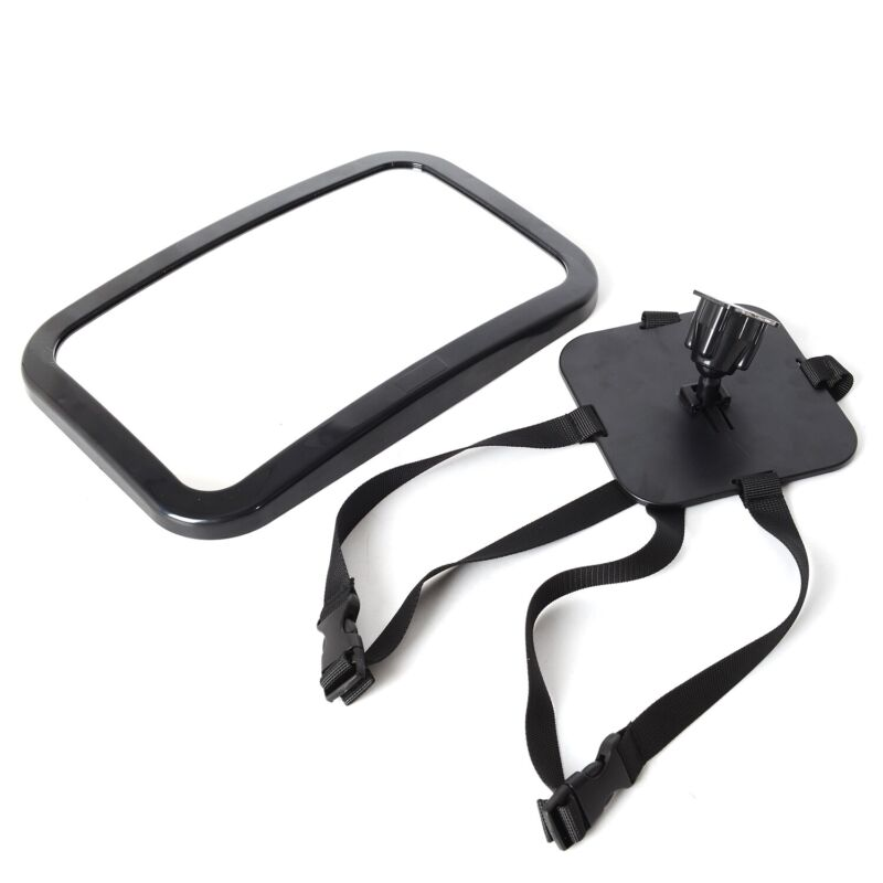 Black Acrylic Baby Car Tilt Rotate Mirror for the Back Seat