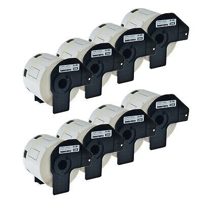 800 Labelsroll Standard Address Label For Brother Dk1209 Dk-1209 Ql-500 8 Pack