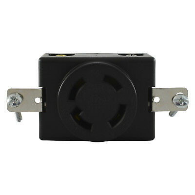 Conntek 80619 L14-30R Locking 4 Prong 30 Amp 125/250 Volt Flush Mount Receptacle
