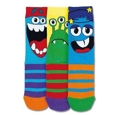Socken Lustige Monster in 30,5-39 Strümpfe Witzige Biester Fuß im 3er Set