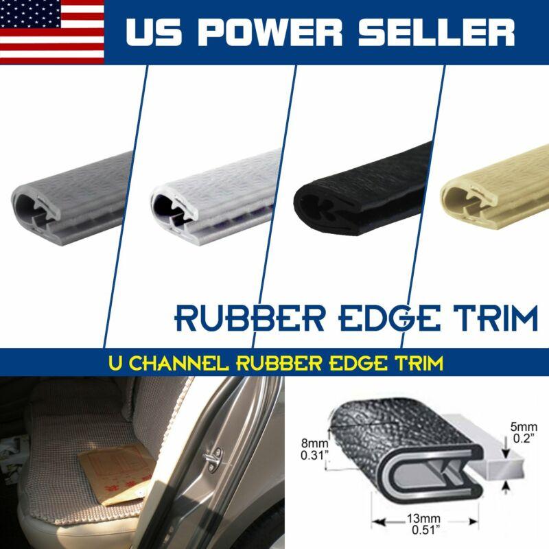 "3/8""x1/2"" Trim Lok Rubber Seal Door Edge Guard Strip Soundproof Length&Colors"