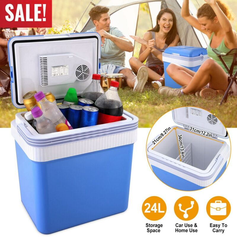 24L Car Refrigerator Fridge Portable Travel Camping Freezer Mini Refrigerator