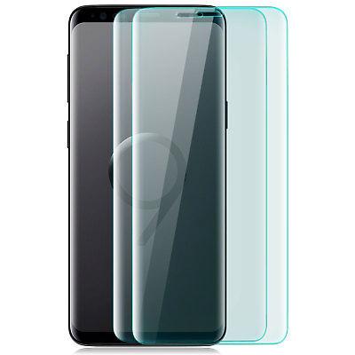 2x Curved Displayschutz Glas für Samsung Galaxy S9 Plus - 9H-Panzer Glasfolie T