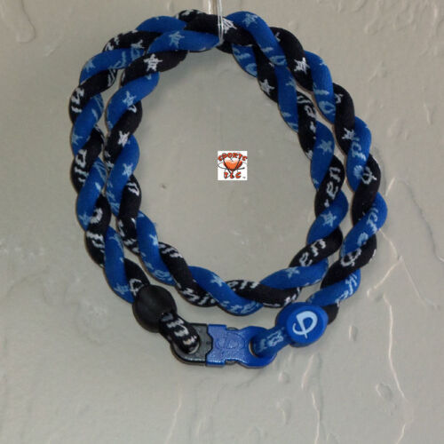 Phiten Tornado Necklace: Royal Blue with Black Custom