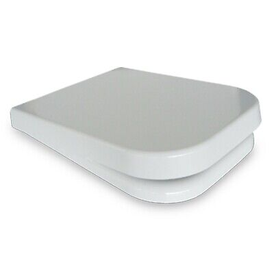 Sedile Copriwater Wc in Termoindurente per serie ALISEO Nero Ceramica bianco
