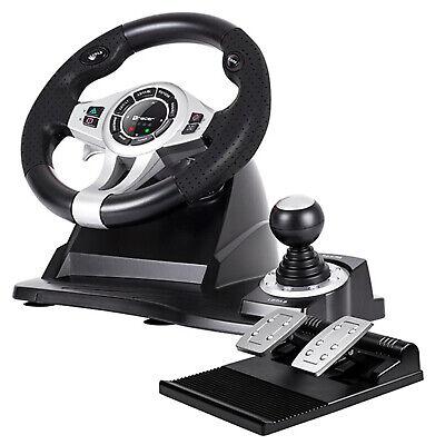 Volante de Carreras de Juego con Pedales TRACER Roadster PC PS3 PS4...