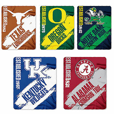 New NCAA College Football Collection Blanket Fleece Throw 50'' x 60'' College Fleece Collection Throw Blanket