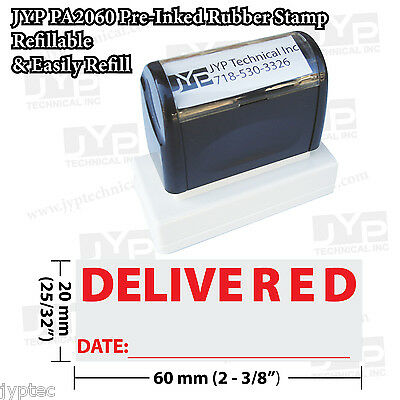 New Jyp Pa2060 Pre-inked Rubber Stamp With Delivered W. Date