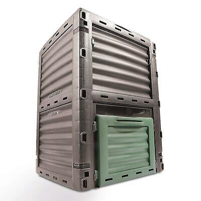 Plastic Garden Waste Composter Bin 300 Litre - With Hinged Lid And Hatch Door