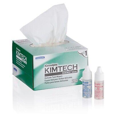 Amscope Microscope Maintenance Kit - Type A B Immersion Oils And Kimwipes Wipe