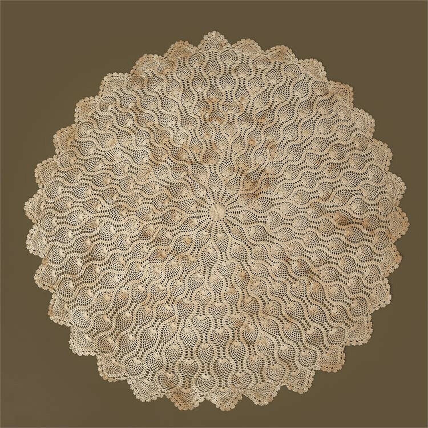 Vintage design New round Hand Crocheted Table cloth -SALE