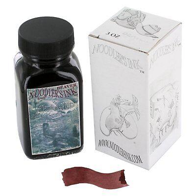 Noodler's Ink Refills Beaver Brown Bottled Ink -for Fountain Pens - 19024 Brown Bottled Ink Refill
