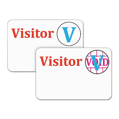 C-Line Time's Up! Self-Expiring Visitor Badges One-Day Badge 3 x 2 White - One Day Visitor Badge