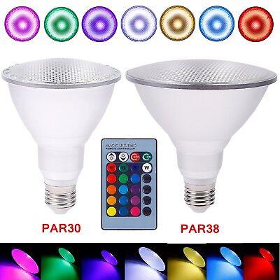 8 PAR30 Glühlampe Glühbirne mit Fernbedienung Farbwechsel # (Par Ty)