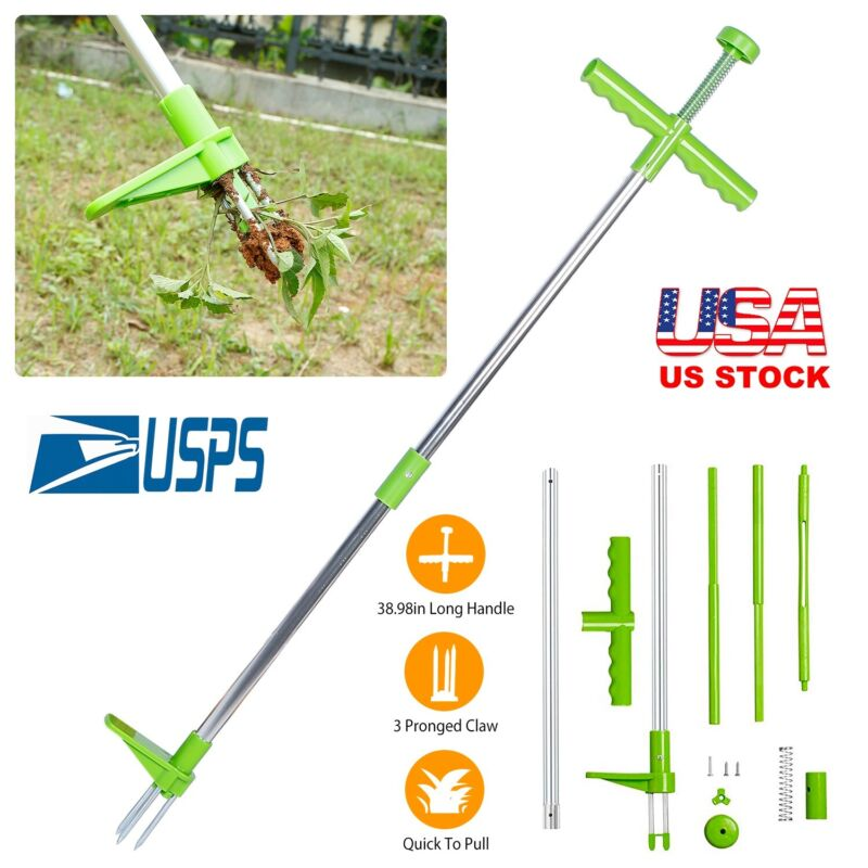 Weed Puller Weeder Twister Stand Up Garden Lawn Grass Root Killer Remover Tool