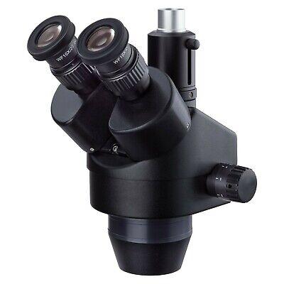 Amscope 7-45x Trinocular Zoom Stereo Microscope Head Simul-focal Widefield Black